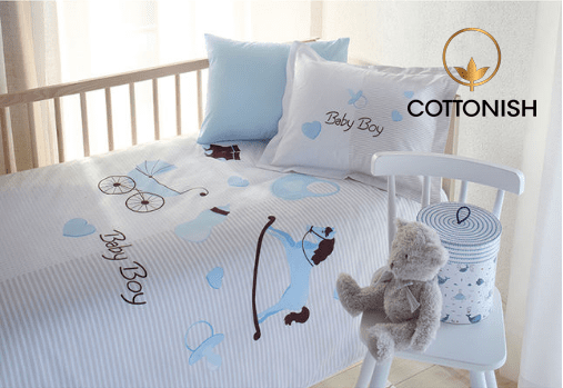 BABY BOY BEAUTIFUL BEDDING SET - COTTONISH