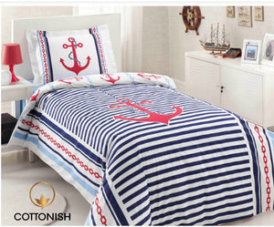 NAUTICA SINGLES/TEENAGES BEDDING SET - COTTONISH