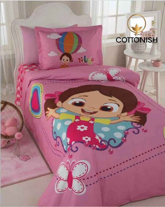 NILOYA KELEBEK TOON CHARACTER GIRL'S BEDDING SET - COTTONISH