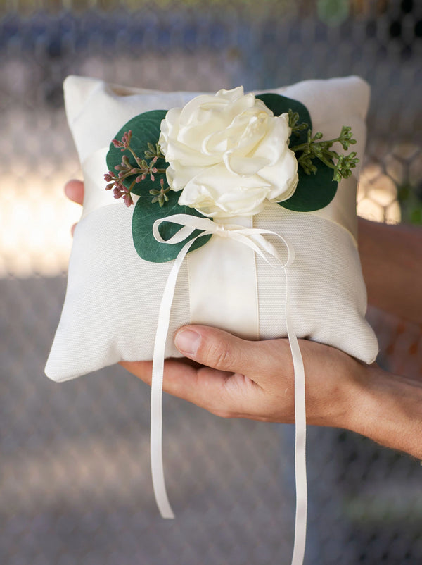 Modern Linen ring pillow for Ring Bearer | Beck by Ragga Wedding