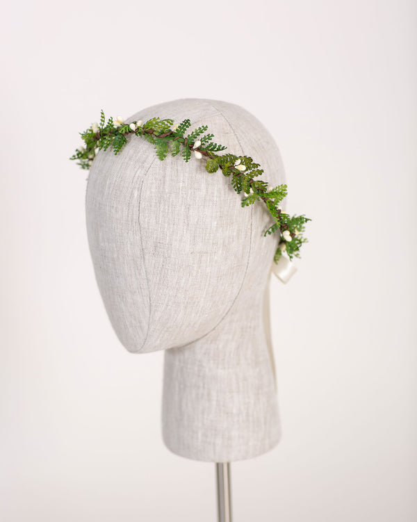 Whimsical Woodland Flower Crown | Fern Greenery Halo by Ragga Wedding