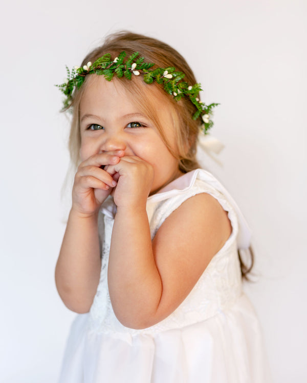 Elodie | Woodland Inspired Fern & Pip Berry Crown