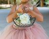 Kennedy | Country Rustic Flower Girl Basket
