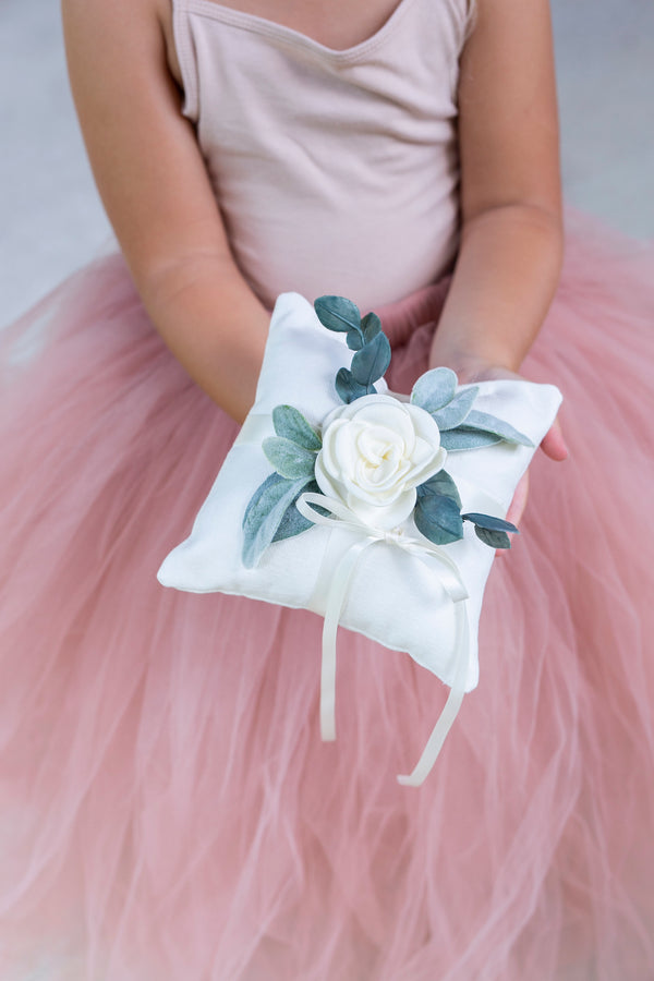 Modern Ring Bearer Pillow for Girls by Ragga Wedding