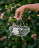 Norah | Petite Ivory Wire Flower Girl Basket