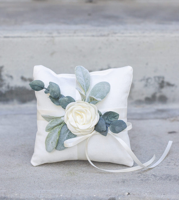 Modern Ring Bearer Pillow Option