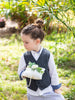 Ring bearer pillow with built in ribbon handle