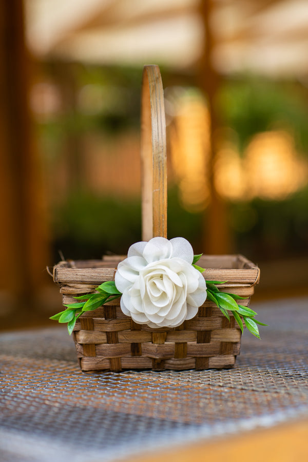 Honey | Bamboo Woven Flower Girl Basket