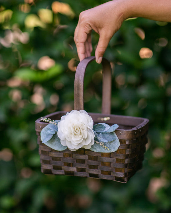 Flower Girl Basket Set | Rustic Flower Girl Basket by Ragga Wedding