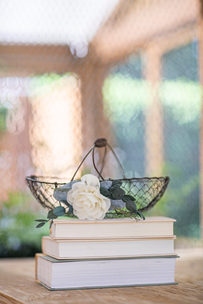 Bella | Wire Flower Girl Basket