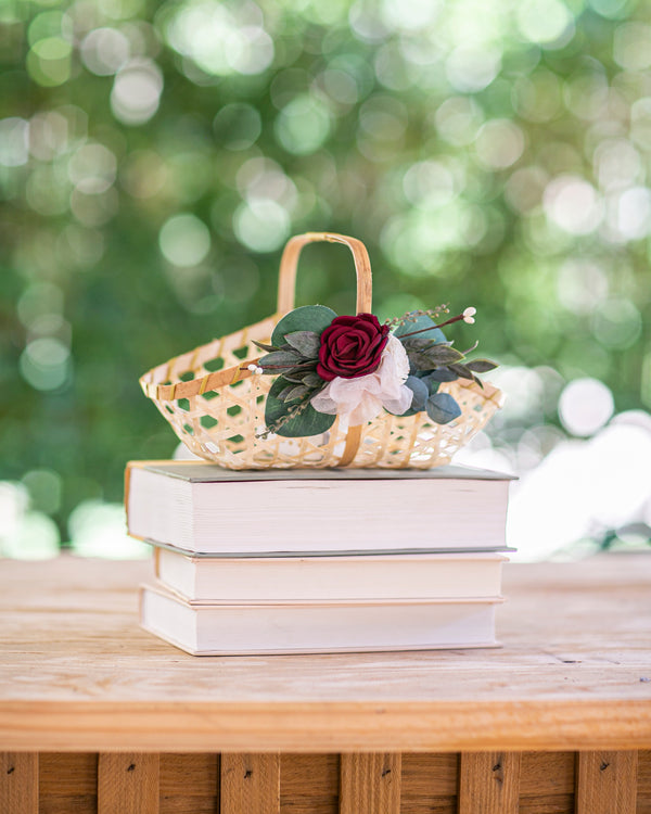 Amelie | Boho Flower Girl Basket