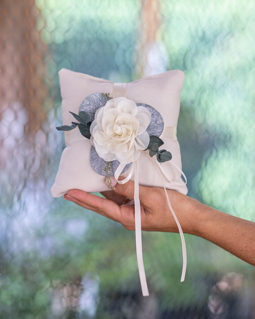 Modern Ring Bearer Pillow or Ring Cushion by Ragga Wedding