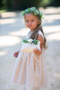 Simple Flower Crown | Greenery Flower Girl Hair Piece by Ragga Wedding