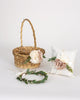 Lark, Lucca & Gemma | Flower Girl Basket, Ring Pillow & Crown Set