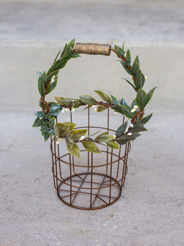 Eleanor Set | Matching Vintage Iron Flower Girl Baskets