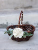 Hope: Rustic Flower Girl Basket | Willow Wedding Basket