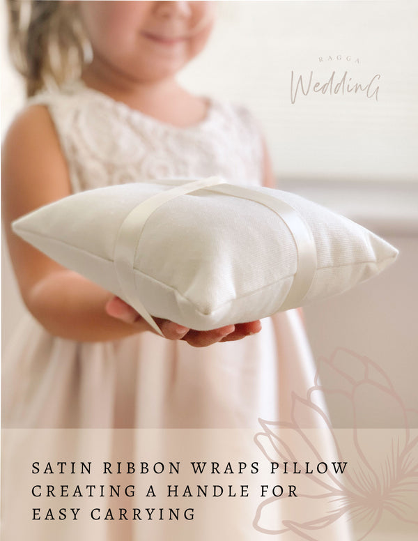 Ring Bearer Pillow with Handle or Easy to Carry by Ragga Wedding