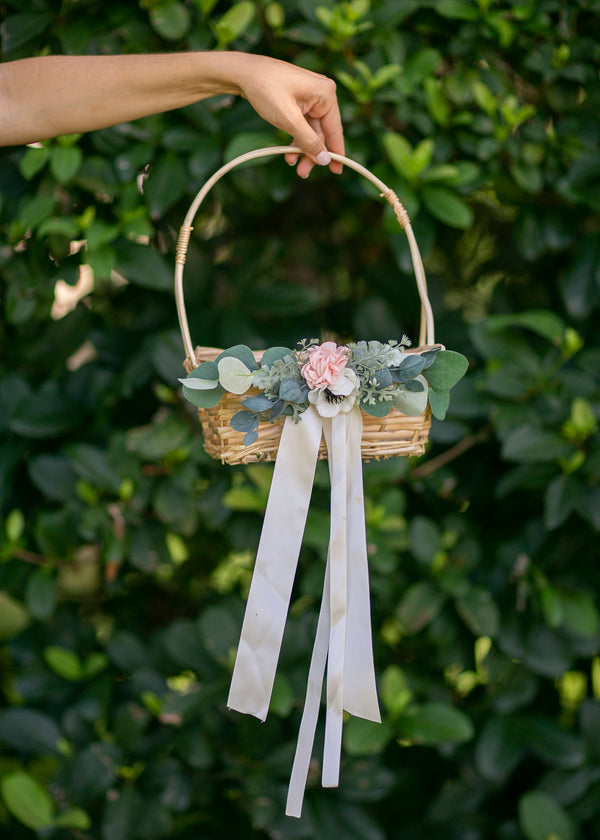 Adelaide: Natural Willow Flower Girl Basket