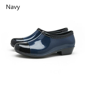 Women Waterproof Rain and Garden Shoe Slip On Low Boot