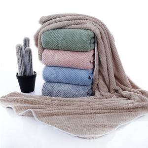 Large Flannel Warm Soft Bath Shower Towel Set