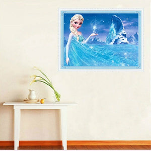 Cartoon Diamond Painting 5D DIY Diamond Embroidery Frozen Elsa Children Decor Gift