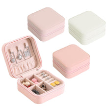 Load image into Gallery viewer, Portable Travel Jewelry Box Organizer Leather Jewellery Ornaments Case