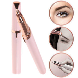 Electric Finishing Touch Painless Brows Hair Remover Face Eyebrow LED Light