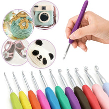 Load image into Gallery viewer, 30Pcs Crochet Hooks Set Knitting Needles Sets Sewing Tools Grip With Bag