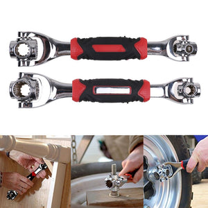 48 IN 1 Socket Wrench Universal Wrench Tiger Tools Dog Bone Metric NEW