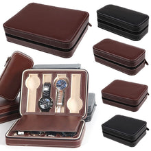 Load image into Gallery viewer, 2/4/8 Grids Travel Watch Box Superior PU Leather Storage Case Organizer