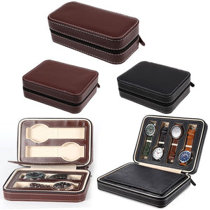 2/4/8 Grids Travel Watch Box Superior PU Leather Storage Case Organizer