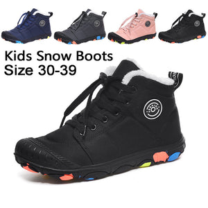 Children's Winter Snow Boots Kid's Warm Anti-slip Waterproof Outdoor Boots