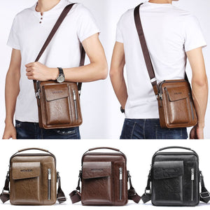 Men''s Leather Messenger Briefcase Bags Cross body Handbag Shoulder Bag