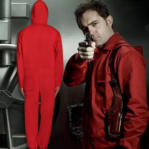La casa De Papel Costume Suit Salvador Dali Money Heist Hoodie Face Mask