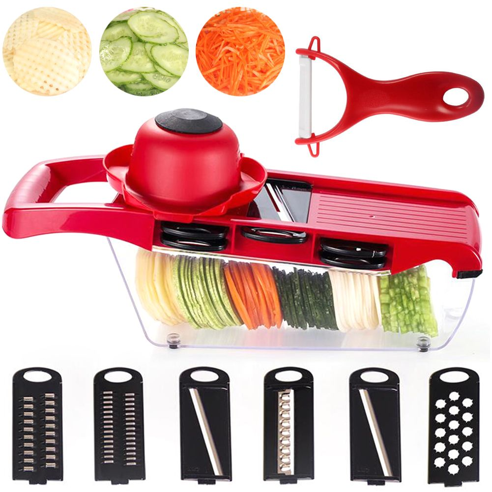 Potato Slicer Vegetable Fruit Cutter Stainless Steel Mandoline Kitchen
