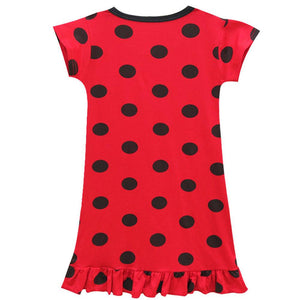 Kid Girls Miraculous Ladybug Fancy Dress Cosplay Costume Mini Dress