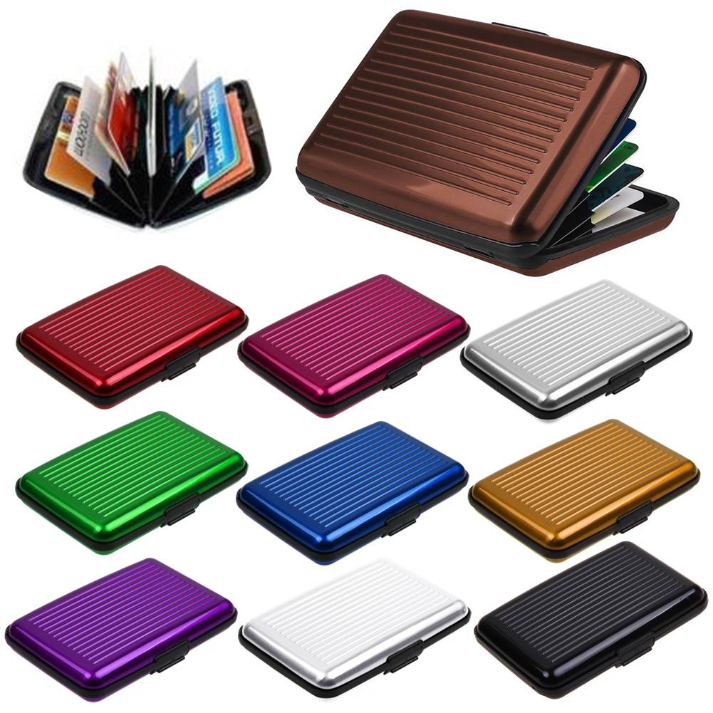 Aluminum Metal Credit Card Holder Wallet Case Box Protector Pocket  Unisex