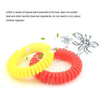 Load image into Gallery viewer, 12Pcs Natural Safe Mosquito Repellent Bracelet Waterproof Spiral Wrist Band