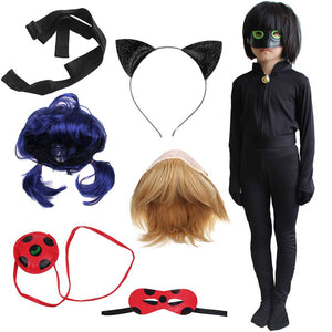 Cosplay Miraculous Ladybug Black Cat Noir Adrien Agreste Suit Costume