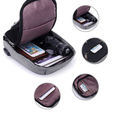 Load image into Gallery viewer, Backpack Sling Sports Crossbody Port Anti-theft Travel Bag USB Charging