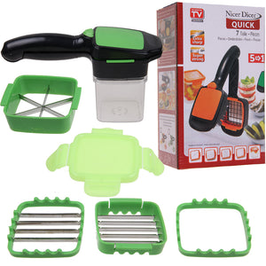 5 in 1 Dicer Fruit Vegetable Cutter Nicer Dicer Quick Chopper