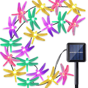 20/30 LED 8 Modes Solar Dragonfly Fairy String Lights