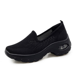 Womens Trainers Breathable Running Shoes Air Cushion Slip On Walking Shoes