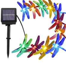 Load image into Gallery viewer, 20/30 LED 8 Modes Solar Dragonfly Fairy String Lights