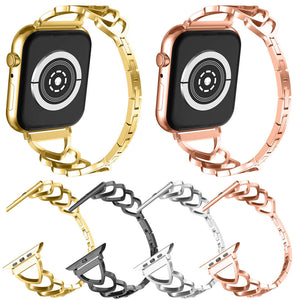 Heart-shaped Wristband Strap Bracelet Link For Apple Watch iWatch Series 4