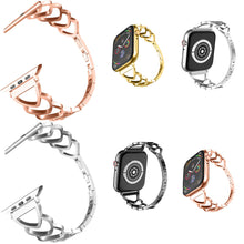 Load image into Gallery viewer, Heart-shaped Wristband Strap Bracelet Link For Apple Watch iWatch Series 4