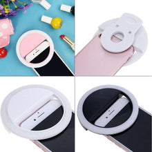 Load image into Gallery viewer, Selfie Portable LED Light Ring Fill Camera Flash For Mobile Phone