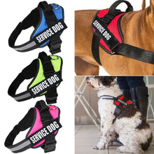 Load image into Gallery viewer, Adjustable Service Dog Harness Vest Patches Reflective Small Large Medium