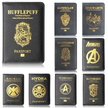 Load image into Gallery viewer, Passport Cover Harry Potter Travel Case Wallet Hogwarts Credit Card Case