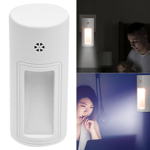 Auto LED Light Induction Sensor Control Bedroom Night Lights Bed Lamp